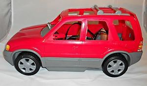 2002 Barbie Car Red Ford Explorer Escape SUV Truck GPS Seat Belts Rack WOW