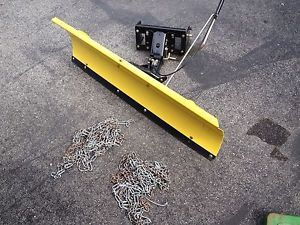 """John Deere Lightning 46"""" Snow Blade with Tire Chains That Fit L130"""