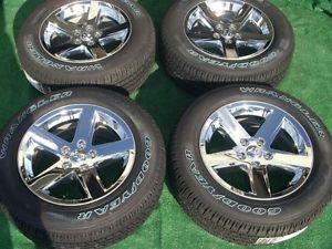 """2013 Dodge RAM 1500 Factory 20"""" 5 Spoke Chrome Clad Wheels P275 60R20 Tires"""