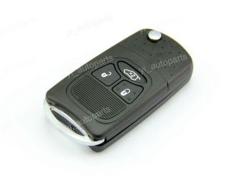 3 Buttons Remote Flip Folding Key Shell Case for Chrysler Dodge Jeep PT Cruiser