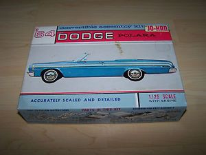 Jo Han 1964 Issue 1 25 Scale Dodge Polara Model Car Kit w Engine 8 764