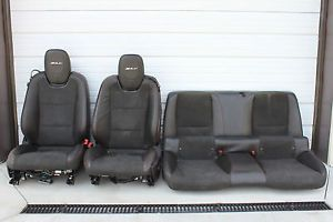 2013 Camaro ZL1 Leather Suede Seats Front Rear Used