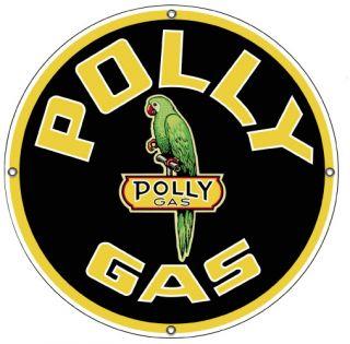 Polly Gas Vtg Style Metal Sign Garage Rat Hot Rod Service Station Shop Garage