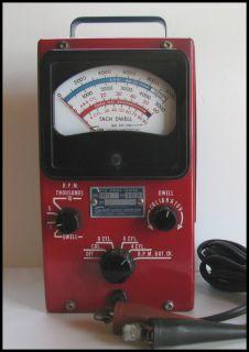 Vintage Mid Century Automotive Test Equipment Sun Tach Dwell Meter Hot Rod
