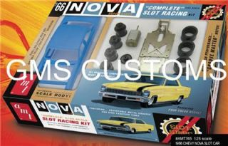 AMT Slot Stars 1 25 1966 Chevy Nova Super Stock Complete Slot Car Kit Item 745