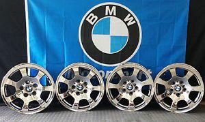 "4 BMW 16"" Factory OEM Chrome ""Style 134"" Wheels Rims 5 Series E60 E61 59469"