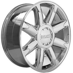 "20"" inch Chrome GMC Yukon Denali Sierra Chrome Wheels Rims"