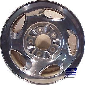 00 01 02 03 Ford F150 04 Heritage 16x7 Factory 5 Swirl Spoke Polished Wheel 3399