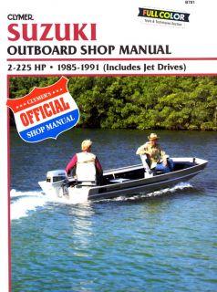 Suzuki 2 225HP Outboard Motor Engine Repair Manual