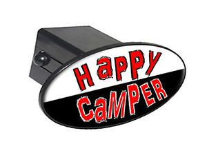 """Happy camper 2"""" Tow Trailer Hitch Cover Plug Insert"""