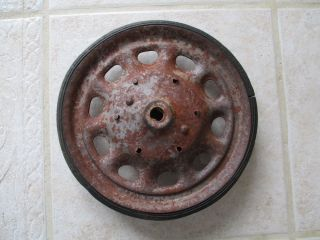Antique Vintage Pedal Car Toy Car or Wagon Artillery Tire and Wheel