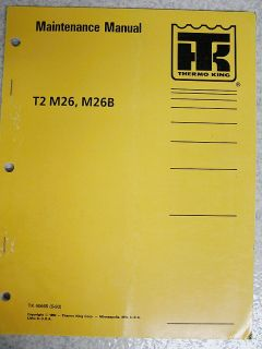 Thermo King Bus T2 M26 M26B Maintenance Manual Bus