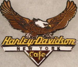 Harley Davidson Cafe New York American Bald Eagle Pin