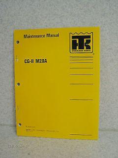 Thermo King Maintenance Manual CG II M20A Di 2 2 Diesel Engine Generator Set