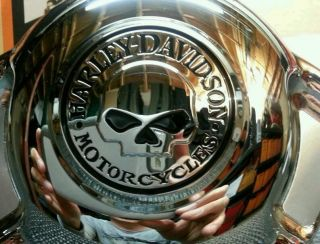 Harley Davidson Willie G Chrome Customized Air Wing Horn Cover