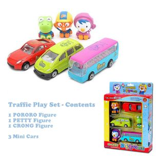 New Cute Pororo Mini Toy Car Diecast Character Figure Set Korean Animation