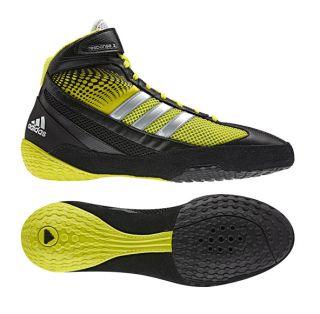Adidas Response 3 III Wrestling Shoes Black Lime Metallic Silver