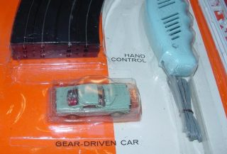 Atlas HO Slot Car Racing Set Ford Mustang Fastback 36 Ford 3 Window Coupe