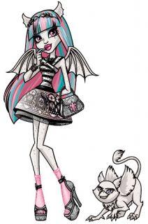 NIB Monster High Rochelle Goyle w Pet Gargoyle Griffin Roux Diary Stand