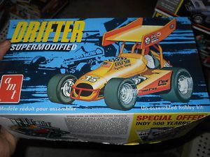 Vintage AMT Drifter Supermodified Sprint Car Model Car Mountain Kit