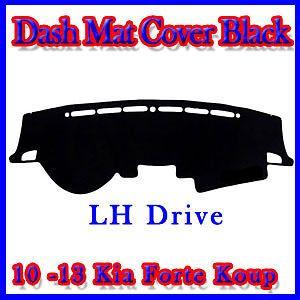 Dash Cover Mat Black Color for 2010 2013 Kia Forte Koup