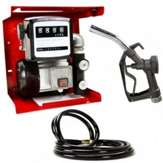 Fuel Transfer Pump w Meter 12' Hose Static Wire Gas Diesel New Free Shipping