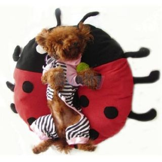 18inch Ladybug Beetle Shape Pet Cat Dog Sleeping Bed Crate Cage Pad Mat Cushion