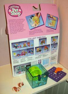 Kenner Littlest Pet Shop Busy Hamsters w Jogging Wheel Complete w Package 1992