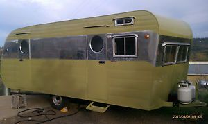 1954 Franklin Travel Trailer Vintage Travel Trailer Airstream Spartan Canned