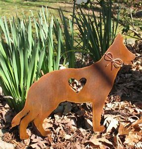 German Shepherd Dog Metal Garden Stake Yard Garden Art Pet Memorial