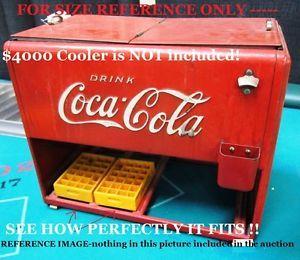 2 PTL Cases Vintage Mini Coca Cola Bottles Fits 1939 Salesman Sample Coke Cooler