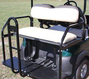Club Car Golf Cart Precedent Rear Flip Seat Kit Cargo Bed Buff 2 in 1 Kit