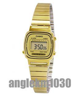 Casio Vintage Retro Classic Gold Plated Ladies Digital Watch LA670WGA 9D New
