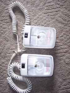 Single Dome Interior Lamp Light Cord Plug Snap on Pop Up camper Trailer 2 Two