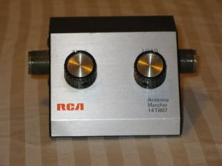 Vtg RCA CB Ham Radio Antenna Matcher Tuner 14T807 Tested Works Great Japan
