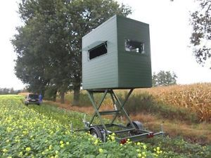 New Mobile Tower Hunting Blind Hydraulic Lift Deer Stand