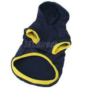 Cool Small Pet Dog Clothes Sport Costume Hoodie Coat