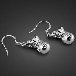 Genuine Solid Sterling Silver Lovely Money Bag Pendant Hook Earrings E001