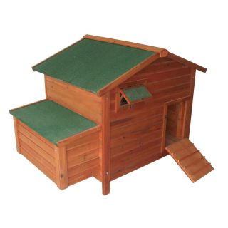 New Portable Wooden Chicken Coop Hen House Rabbit Hutch Wood Pet Cage w Egg Box