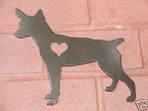 Rat Terrier Pet Dog Memorial Garden Stake Lawn Ornament