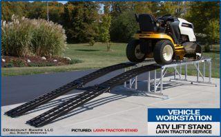 Lawn Mower Garden Tractor ATV Service Lift Storage Display Stand Platform Ramps
