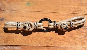 Jose Ortiz Natural Hand Braided Rawhide Bit Hobble with Black Accents