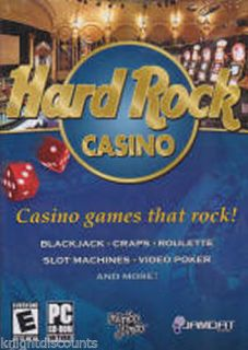 Hard Rock Casino Poker Cards Black Jack Gambling SEALED PC Game New 5390102453619