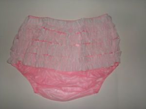 New Soft Adult Baby PVC Frilly Pull on Plastic Pants P003 5