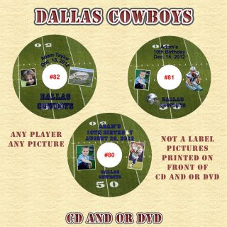 Dallas Cowboys Birthday Invitations Thank You Cards Stickers Labels Personalized