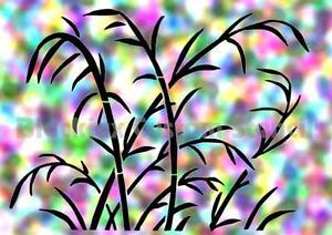 Camo Pond Reeds Large Airbrush Stencil Template