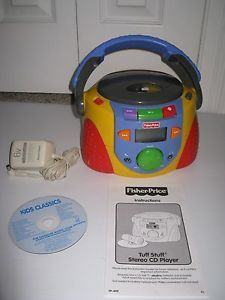 Fisher Price Tuff Stuff Stereo CD Player with Kids Classics Music CD