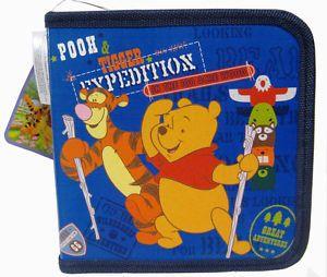 Disney Winnie Pooh Piglet Tigger Eeyore 24 CD DVD Blu Ray Storage Organizer Case