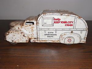 1940 Vintage City Sanitation Dept Truck Made in The United States by Marx Toys