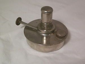 Antique Stainless Steel Chrome Plated Alcohol Kerosene Oil Lamp Bunsen Burner